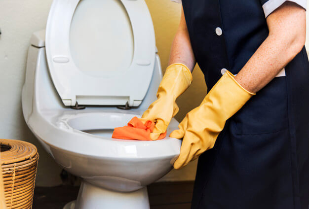 Cleaning the Bathrooms